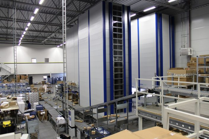Scaletronic DANX Dimension Scanner Installation with warehouse